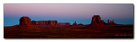 Pano of the Iconic Buttes of Monument Valley