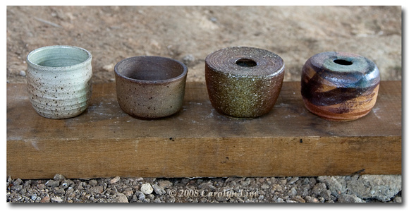 Four Fired Pieces